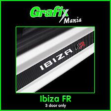 Seat 'Ibiza FR' Mk5 - Carbon Fibre Vinyl Door Sill Protector Guards Stickers