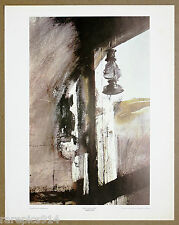 Andrew Wyeth  Shed Lantern  Vintage Original Lithograph 1st Print from 1960s
