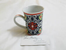 "Vera Bradley SUN VALLEY CoFFee TeA MuG CuP Beautiful, ""VERY RARE & RETIRED"" NWOT"