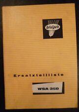 Welger Ballenpresse WSA350 Ersatzteilliste
