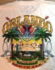 Hard Rock Hotel ORLANDO 2013 WHITE City Tee T-SHIRT 2X XXL Mens New with Tags!