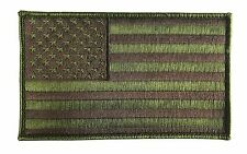 "Large 5"" X 3"" US American Flag Patch (Loam) Hook and Look Backing - ODA, SF"