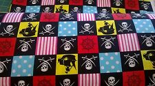 Pirate squares  Cotton Fabric by the Metre