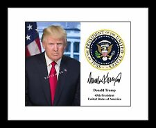 President Donald Trump 8x10 Signed Photo Print Autographed Collectible Seal