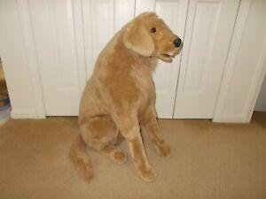 "Melissa and Doug Jumbo Lifelike Golden Retriever Plush Stuffed Animal 29"" Tall"
