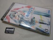 W/Complete Data Memory Card. PSP Hatsune Miku Project DIVA 2nd Japanese Version.