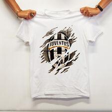 T-Shirt Juve Juventus Scudetto Bianca Graffiata Maglia Maglietta T-Shirt Mania