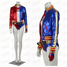 Batman Joker Harley Quinn Suicide Squad Coat Cosplay Costume Halloween Costume