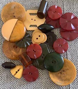 Lot of 23 Vintage Bakelite Buttons