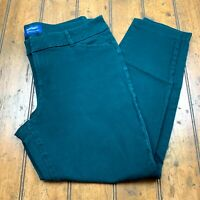 Old Navy Womens Pixie Ankle Chino Pants Size 12 Regular Winter Spruce Green