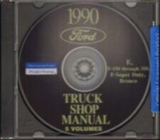 Ford 1990 Bronco, Econoline, F150-F350 & Super Duty Pick Up Truck Shop Manual Cd