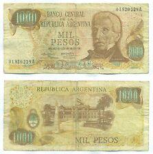 ARGENTINA NOTE 1000 PESOS (1973) CAIROLI-MORALES B# 2435 SERIE A P 299