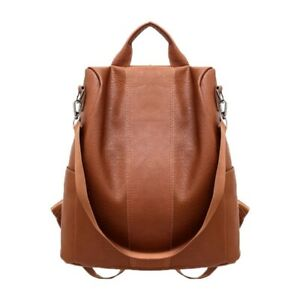 Women's Ladies Rucksack Anti-theft Bag PU Leather Backpack School Bag Handbag'