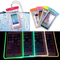 Luminous Glow Waterproof Underwater Pouch Bag Pack Dry Case Cover Cell Phone FG
