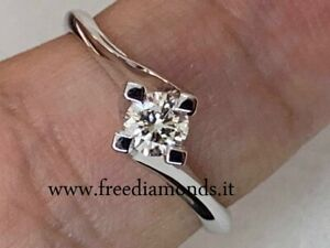 Discount 50% White Gold Solitaire Ring 18 Carats And Natural Diamond Pure If F