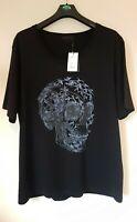 Alexander McQueen black graphic Skull T-shirt Size XL BNWT