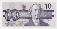 1989 $10 Bank of Canada Bird Series Thiessen/Crow - Extremely Fine