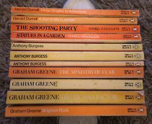 11 x Vintage Penguin Orange Paperback Books Bundle Classics Job Lot Collection
