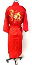 Vtg Kimono Robe 5 Toe Dragon Red China Mens Womens S/M Health Brand Nos Unisex