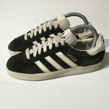 Vintage 1994 Adidas Gazelle UK5 Made In China Black White 90s Rare OG Originals