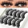 3D Mink False Eyelashes Set Natural Long Thick Fake Eye Lashes Extension 5 Pairs