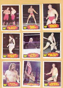 38 LOT 1985 O PEE CHEE WF PARTIAL SET 38/75 CARDS HOGAN AFI JAKE THE SNAKE ETC
