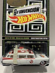 Hot Wheels RLC Mexico Convention Ghostbusters ecto-1 Glow in the dark 0105/4000