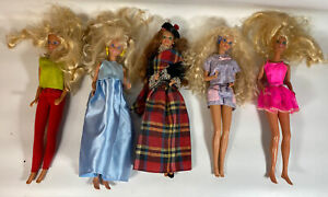 Lot Of Vintage Barbie & Dolls W/ Clothing From 1970s