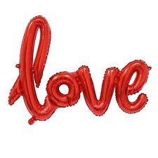 Party Supplies Wedding Engagement Birthday Red Love Script Foil Balloon