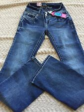 """Wall Flower Junior Jeans Size 5 Luscious Curvy Boot Cut ,18"""" leg opening NWT"""