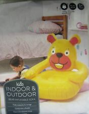 Indoor Outdoor Bear Inflatable Chair Fun Character Design Bedroom Camping Garden