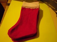 "10PK Christmas Felt Stockings Holiday Decorations Red Blue Green Pink 19"" Long"
