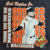 Vintage Orioles Cal Ripken Jr Thank You For The Memories T Shirt Mens XL MLB Y2K