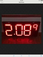 """6 PCS 16"""" LED GAS PRICE CHNGER RED COLOR"""