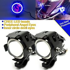 2X 125W 3000LM CREE U7 LED Moto Headlight Spot Fog Lamp For BAJAJ BIKES