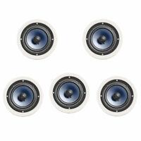 "5 x Polk Audio RC60i 100W Ceiling Speaker 9"""