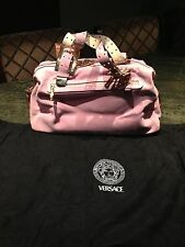 Authentic Pink Suede Versace Hand Bag