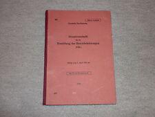 DR DV 407 für die Ermittlung der Betriebsleistungen (VBL) 1.4.1961