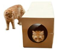 Cat Tunnel Toy Heavy Duty Paper Collapsible, 1 metre long for cats kittens pet