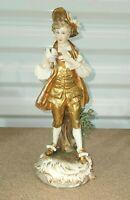 "Antique German Dressel Kister Passau Porcelain Figurine, Man With Dove, 9.5"" H."