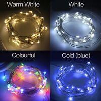 ✅ LED Lichterkette Warm Weiß Bunt Blau DIY Drahtlicht verschiedene Längen