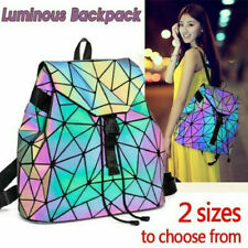 丿丿Geometric Lattice Luminous Shoulder Bag Holographic Reflective Cross-Body Bag