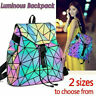 丿丿Geometric Lattice Luminous Shoulder Bag Holographic Reflective Cross-Body Bag
