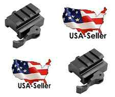 """See video!! 2x Quick Release .5"""" Low Profile Riser QD Mount Picatinny Rail"""