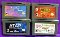 Nintendo Game Boy Advance Lot Atari Ann Frogger Trouble Candy Land Connect Four