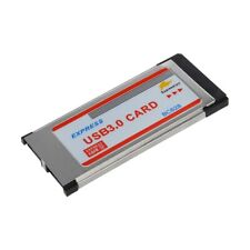 2 Port USB 3.0 Express Card Adapter Hub Cardbus for Laptop D9V6