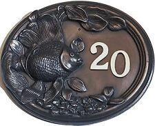 Acabado bronce Goldfish Placa Número De Casa-suministrado con números de libre