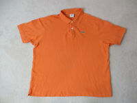 Lacoste Polo Shirt Adult Extra Large Size 8 Orange Crocodile Rugby Mens B22