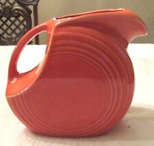 """FIESTA WARE LARGE DISC PITCHER IN PERSIMMON RETIRED 7 1/2""""  TALL , NO H IN LOGO"""