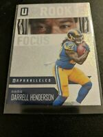 Darrell Henderson 2019 UNPARALLELED ROOKIE FOCUS SP RC Los Angeles Rams